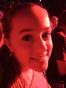 Samantha's face at the Katy Perry concert