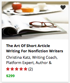 The Art Of Short Article Writing For Nonfiction Writers