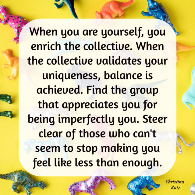 Be Yourself & Enrich The Collective Badge